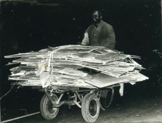 Recycling by bike in Johannesburg c. 1965