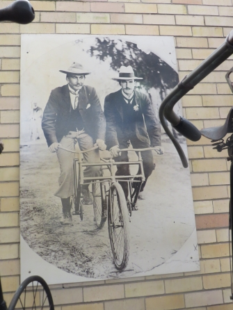 A side by side tandem, early 20th century, Johannesburg