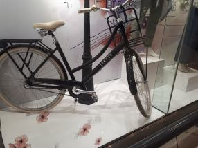 A bicycle with front carrier in a shopping mall in Johannesburg